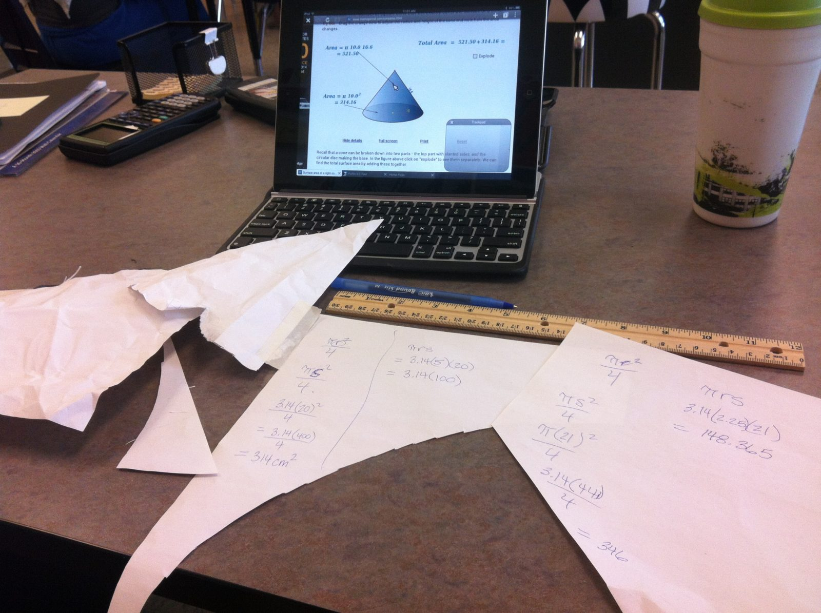 How To Find The Surface Area Of A Cone Find Lateral Area Of A Cone