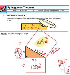 1.5 - Pythagorean Theorem   MFM1P Grade 9 Applied Math Help [ 1564 x 1686 Pixel ]