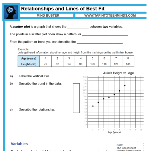 small resolution of 3.2 - Relationships and Lines of Best Fit   Scatter Plots \u0026 Trends