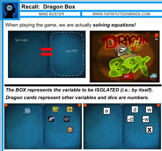 Incorporating DragonBox Into Your Solving Equations Lesson
