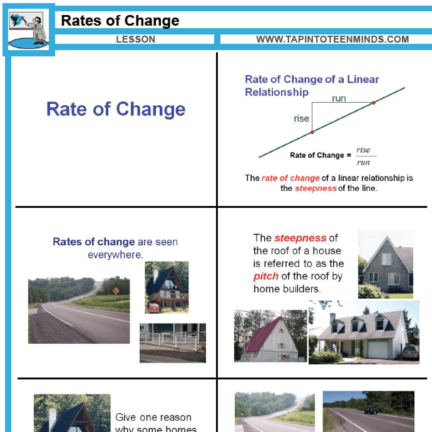 53 €� Rates Of Change  Mfm1p Grade 9 Applied Math Help