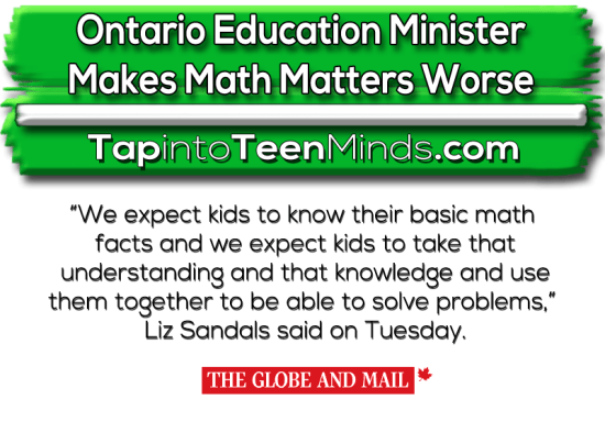 Ontario Education Minister Makes Math Matters Worse