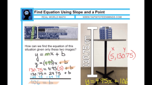ADE 2014 Showcase - Connecting Real Math to Algebra