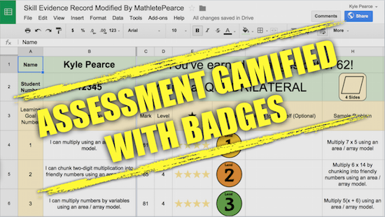 Standard Based Grading - Assessment Gamified With Badges