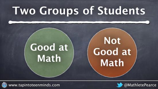 Two Groups of Math Students - Good at Math and Not Good at Math