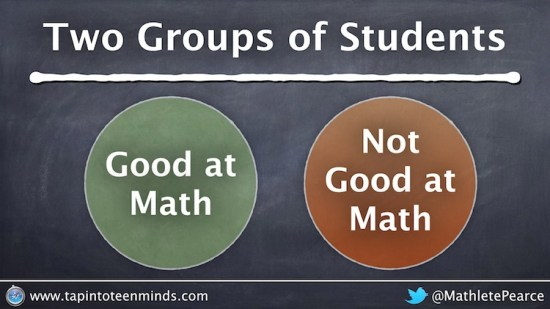Two Groups of Math Students - Good at Math and Not Good at Math