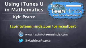 Using iTunes U in Math Class Professional Development for Prince Albert Grand Council