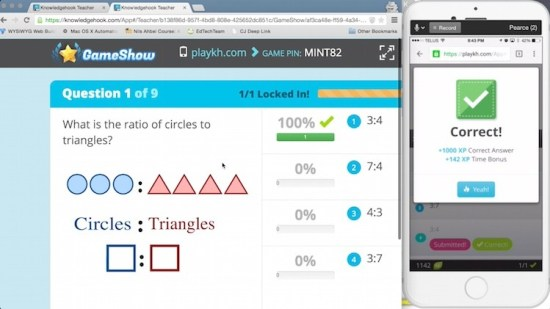 Knowledgehook Gameshow Gamified Experience Points XP and Leveling Up copy