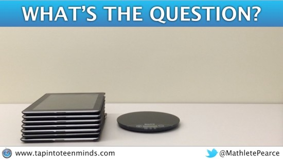 Tech Weigh In - iPad 2 Weigh In 3 Act Math Task - What's the Q