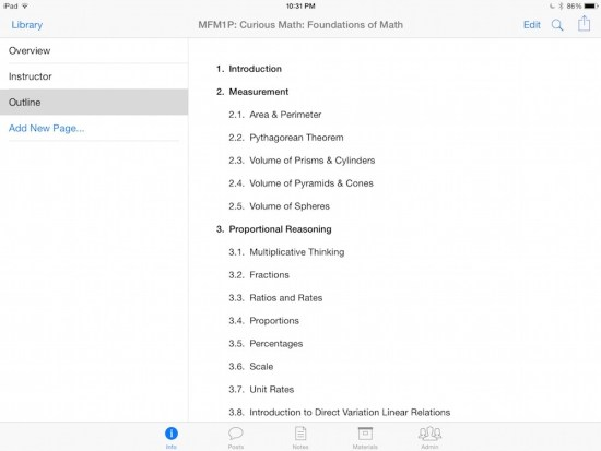 Curious Math iTunes U Course - 02 Course Outline and Topics