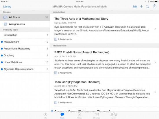 Curious Math iTunes U Course - 03 Summary of Posts and Content