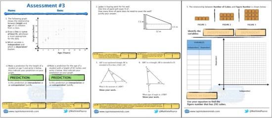 Assessment #3 MPM1D Grade 9 Academic Screenshot
