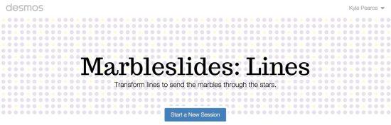 Desmos Marbleslides Lines - Start New Activity