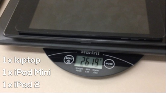 Tech Weigh In Sequel - Act 2 - 1 laptop, 1 mini, 1 ipad 2