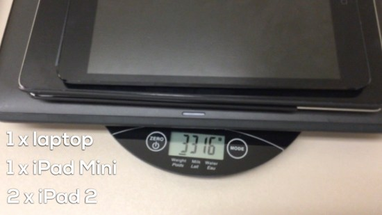 Tech Weigh In Sequel - Act 2 - 1 laptop, 1 mini, 2 ipad 2