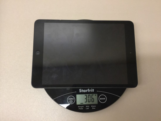 Tech Weigh In Sequel - Act 3 - Weight Of iPad Mini