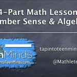 4-Part Math Lesson - Number Sense & Algebra