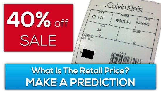 Calvin's Clearance 3 Act Math Task - Make a Prediction