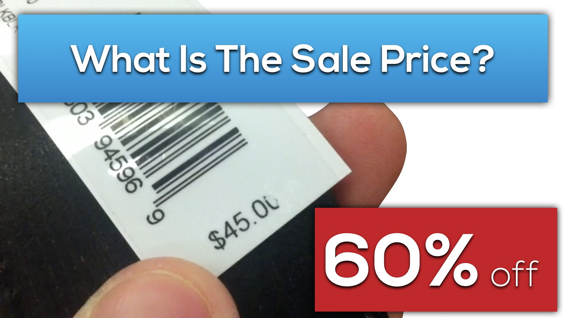 how to find the discounted price of an item