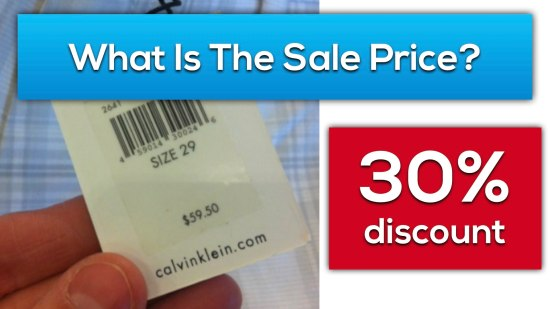 Calvins Clearance - Act 2 Scene 4 Video - What Is The Sale Price