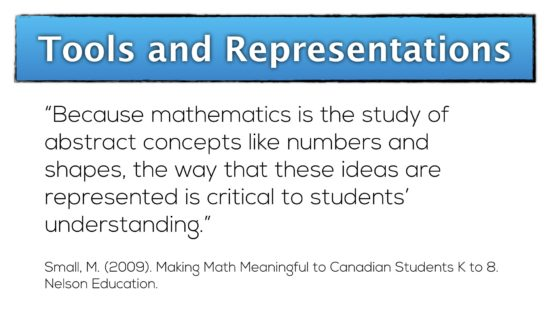 Tools and Representations - representations are critical to understanding