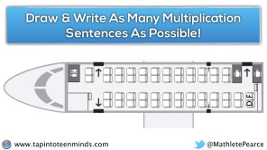 Airplane Task - Air Canada Plane 3 - More seats - Write as many multiplication sentences as you can
