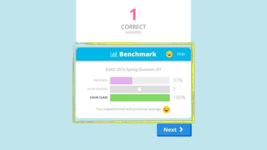 Knowledgehook EQAO Benchmark Tool - How Did Your Class Do
