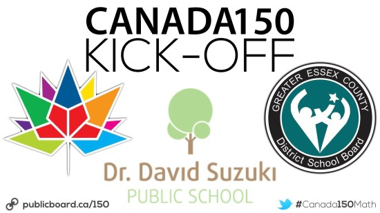 Canada 150 Math Challenge Kick-Off At Dr. David Suzuki PS