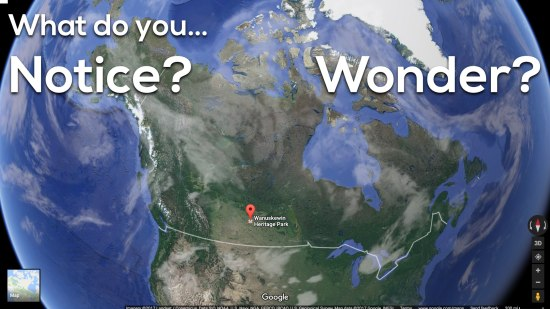 Area of Saskatchewan 3 Act Math - What Do You Notice? Wonder?