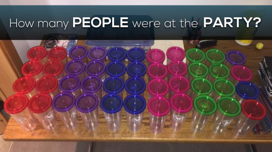 Canada150Math Challenge - How Many People Were At The Party - Array of Cups