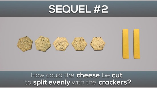 Cheese and Crackers 3 Act Math Task - Sequel #2 Act 1