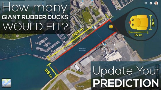 Giant Rubber Duck Sequel Act 2 - Giant Rubber Duck Measurements Update Prediction