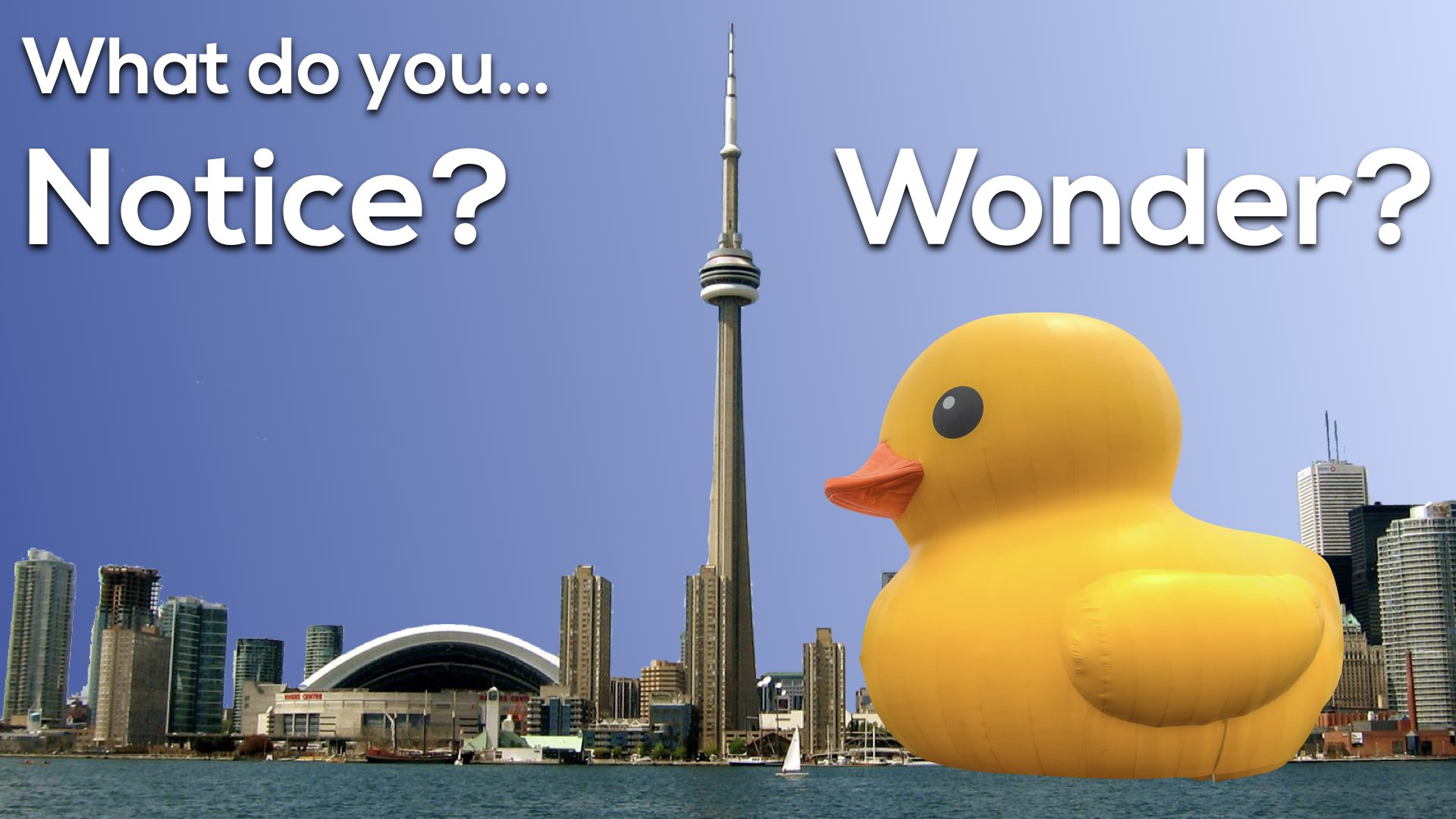 Giant Rubber Duck Vs Cn Tower 3 Act Math