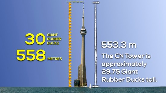 Giant Rubber Duck vs. CN Tower 3 Act Math 023 Act 3 Solution