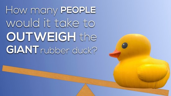 How many people would it take to outweigh the giant rubber duck.001 The Question