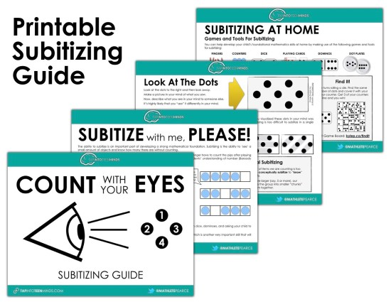 Download The Printable Subitizing Guide