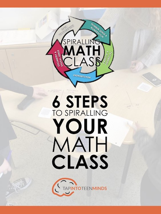 Spiralling Video 2 Cheat Sheet E-Book - 6 Steps to Spiralling Your Math Class Title Page