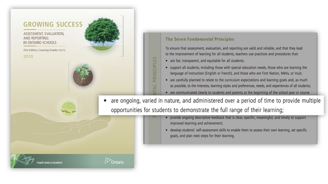 Spiralling Your Math Curriculum - Growing Success Document Assessment is Ongoing Varied in Nature Multiple Opportunities
