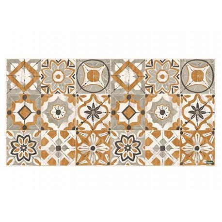 tapis carreaux de ciment jaune moutarde