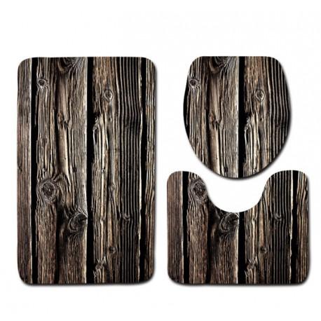 tapis de bain style en bois