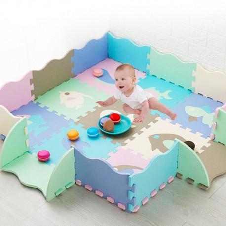 tapis puzzle avec rebord