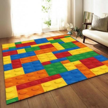tapis imprime lego