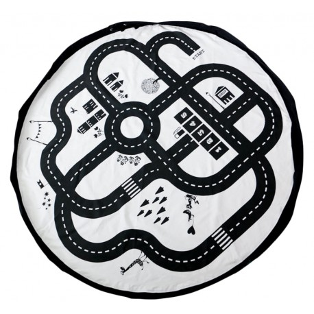 tapis rond circuit route