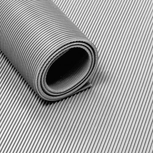 tapis caoutchouc strie 3 mm gris largeur 120 cm au metre lineaire inodore