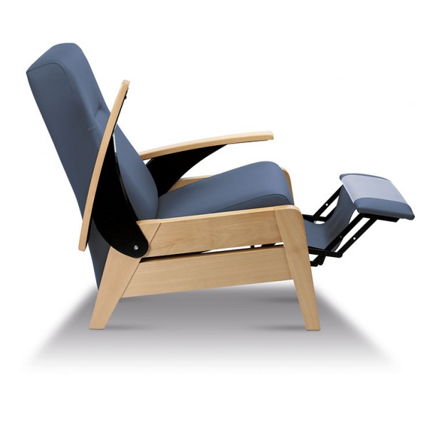 Sillon relax reclinable BOSTON con brazos abatibles