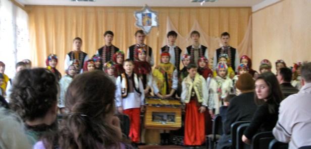 New Year's коляда (caroling) concert at school.