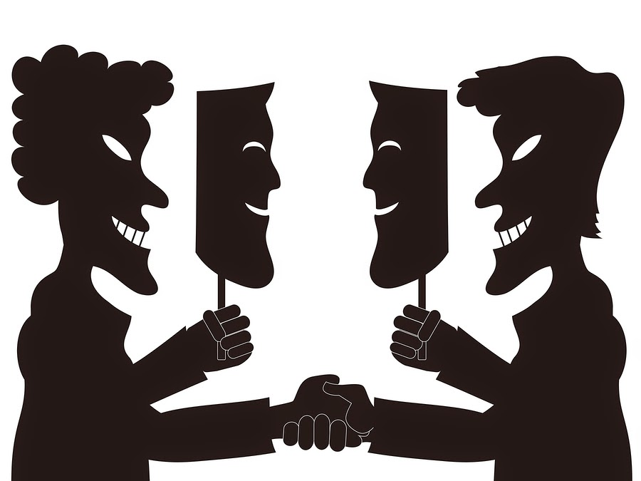 Image result for fake faces silhouette