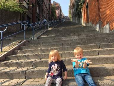 Every once in a while, you run into a small town that just goes beyond what you had expected; we spent the weekend in Liège with kids.