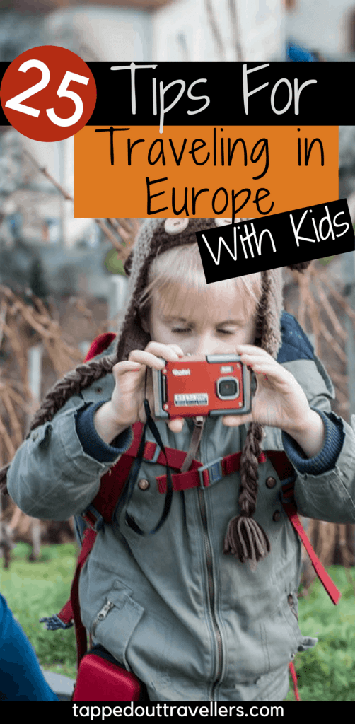 Tips for Traveling in Europe with kids. What you need to know to plan and enjoy your vacation with the children