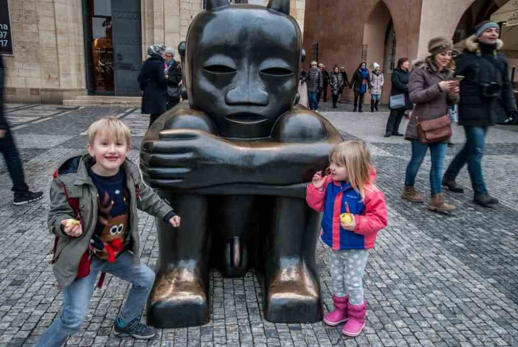See the 10 free things to do in Prague with kids which include a famous bridge and changing of the guards at the castle complex.